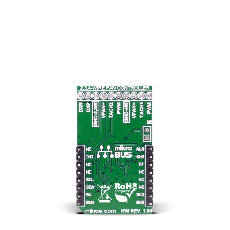 Fan 2 click - board with MAX31760 precision fan-speed