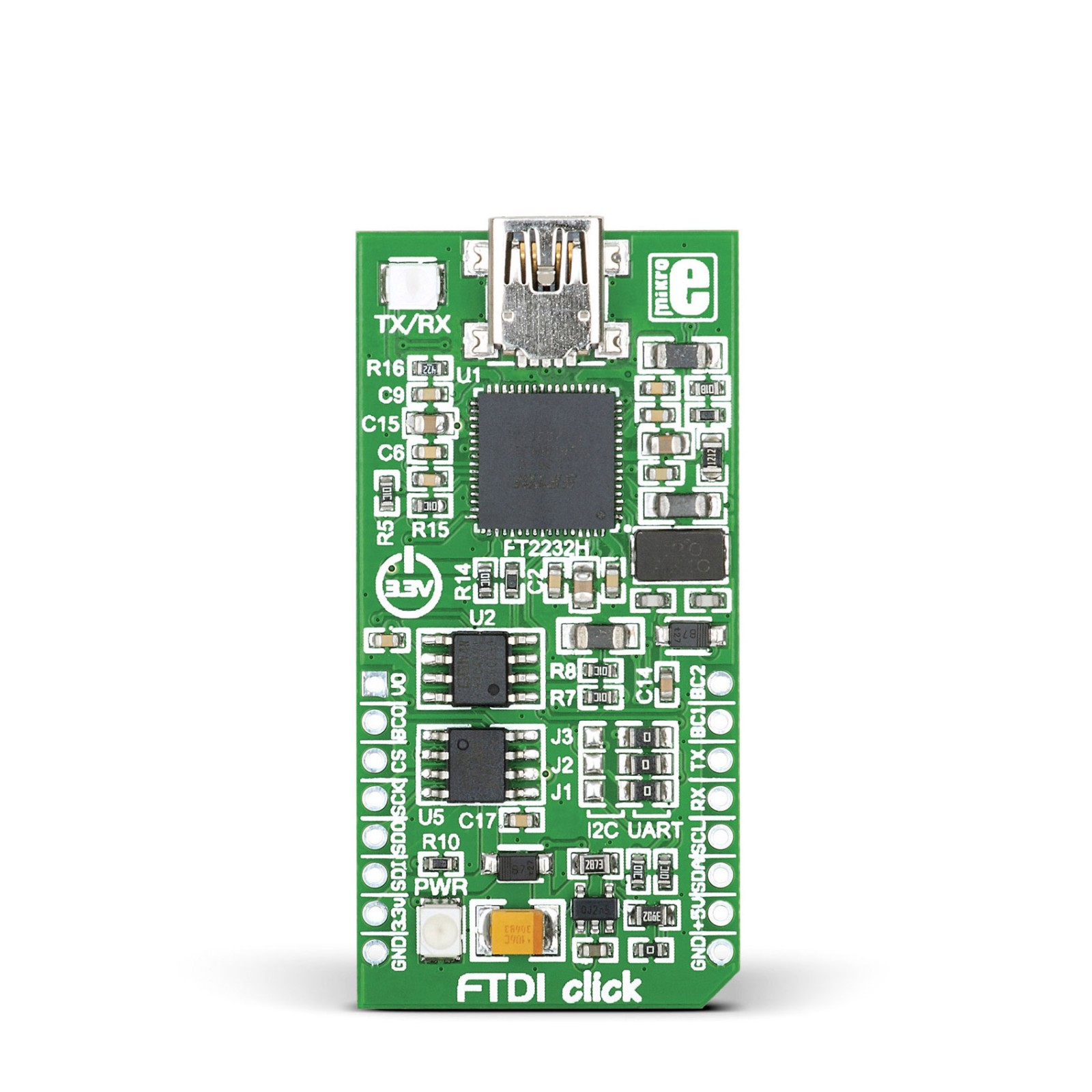 FTDI Click - Board with FT2232H - dual high speed USB 2 0 to
