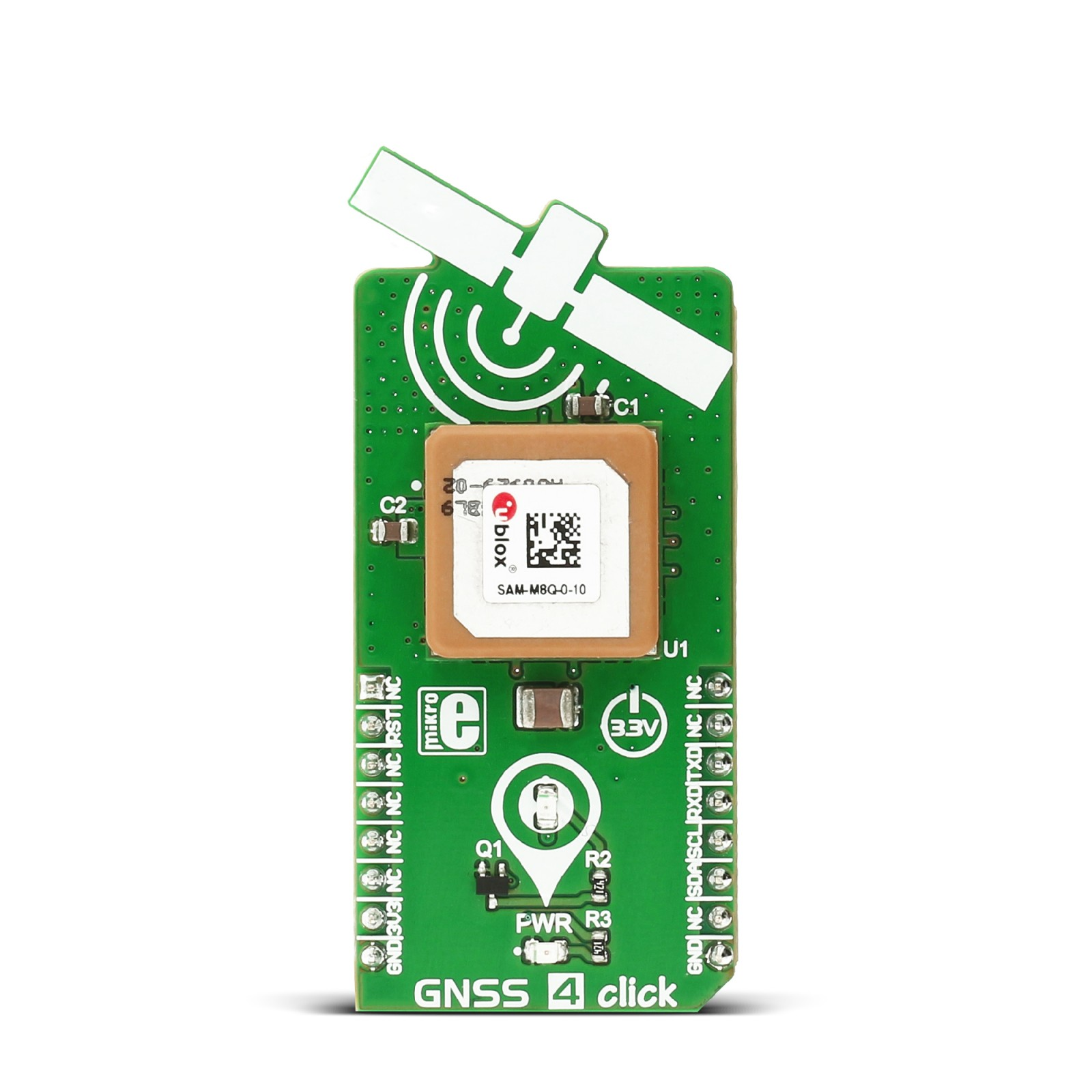 GNSS 4 click - board with SAM-M8Q module from u-blox | MikroElektronika