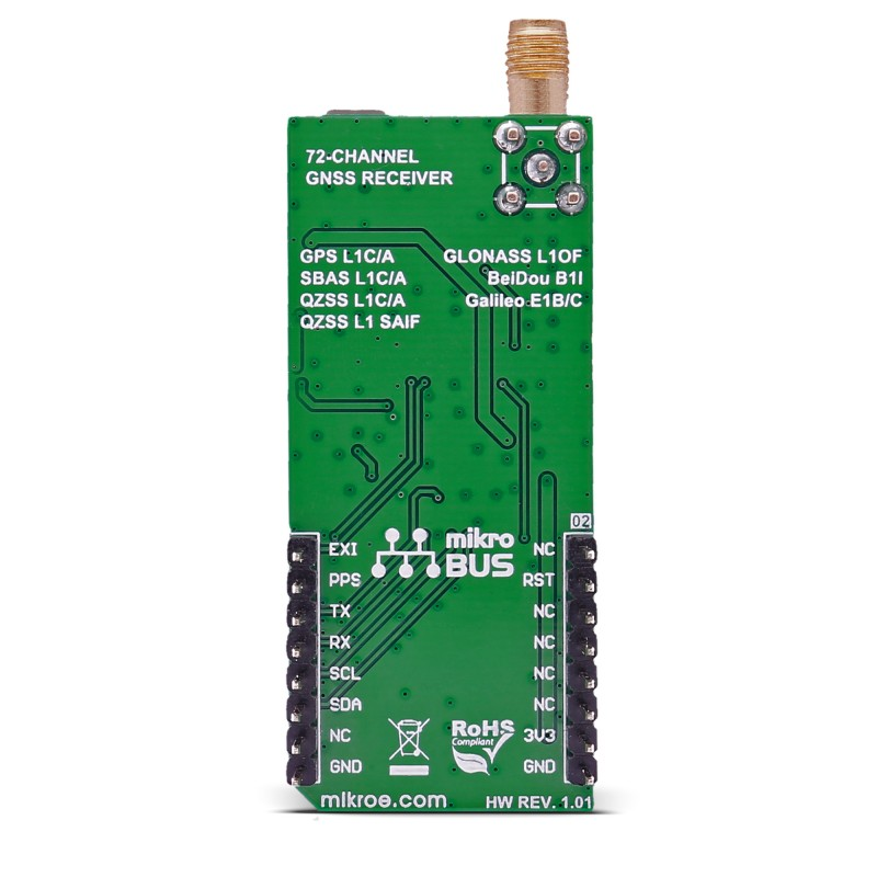GNSS 5 click - board with NEO-M8N GNSS receiver module from