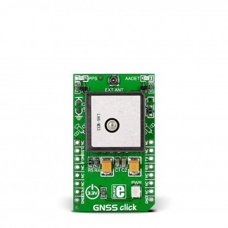 Mikroe Wireless Connectivity GNSS click front