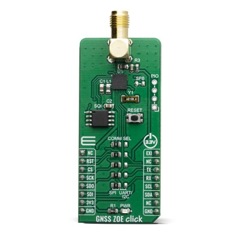 Click Boards Wireless Connectivity GNSS ZOE click front