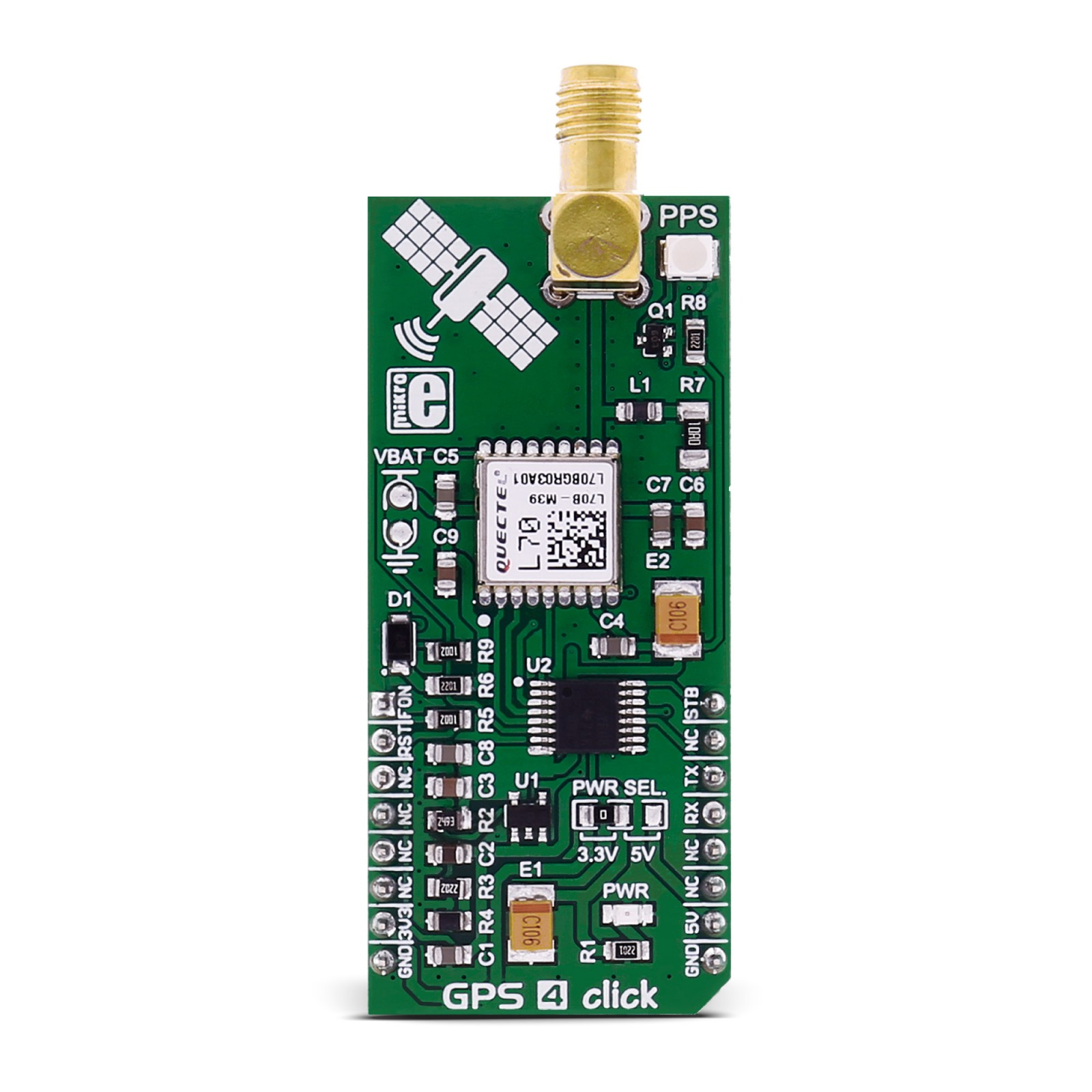 GPS 4 click - board with L70 module from Quectel | MikroElektronika