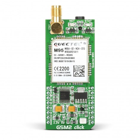 Mikroe Wireless Connectivity GSM2 click front