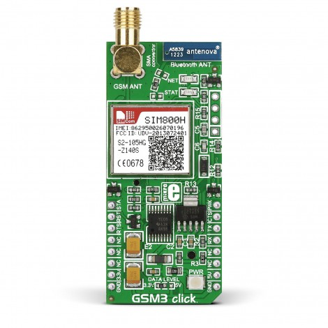 GSM3 click — board with SIM800...