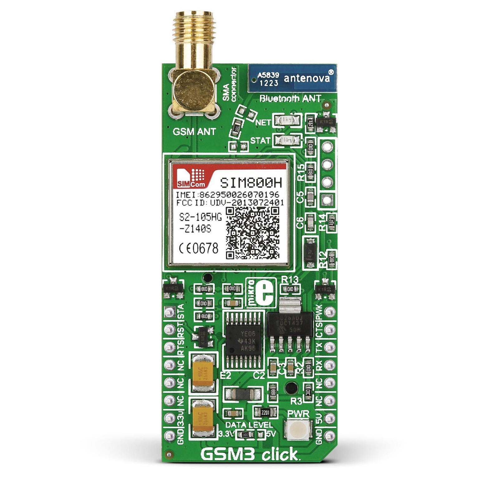 GSM3 click — board with SIM800H module | MikroElektronika
