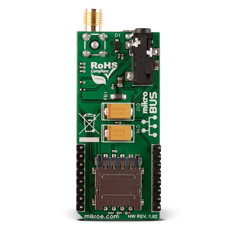 GSM 4 click — board with u-blox SARA-G3 module | MikroElektronika
