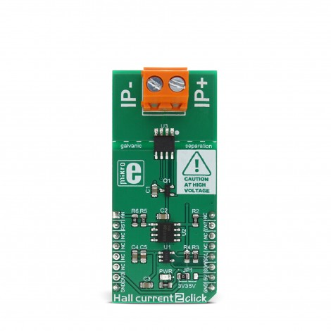 MikroElektronika Click Boards Sensors Hall current 2 click front