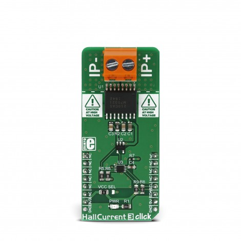 MikroElektronika Click Boards Sensors Hall Current 3 click front