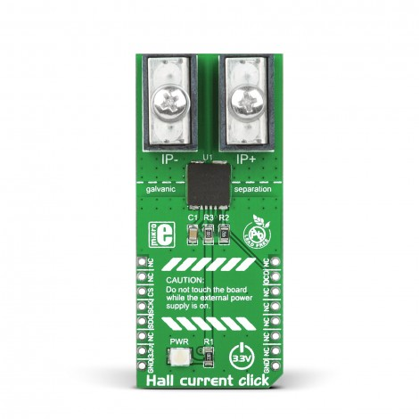 MikroElektronika Click Boards Sensors Hall current click front