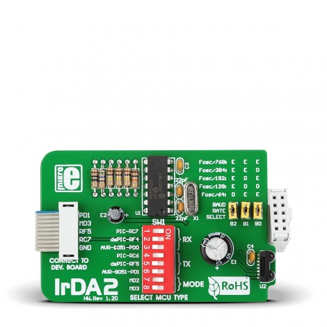 Mikroe Wireless Connectivity IrDA2 Board