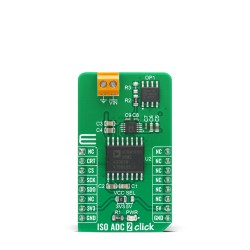 Shop Click Boards Mixed Signal ADC ISO ADC 2 Click Front