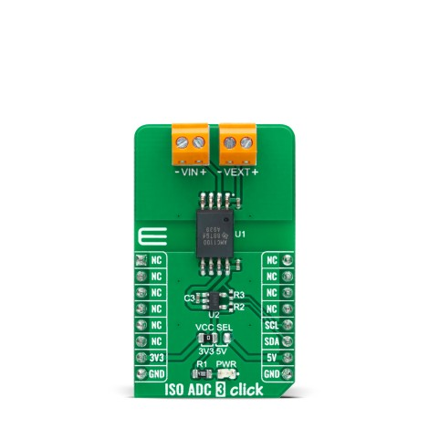 Shop Click Boards Mixed Signal ADC ISO ADC 3 Click Front