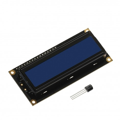 MikroElektronika 2x16 LCD and DS1820 temperature sensor