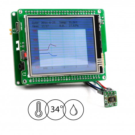 MikroElektronika Datalogger for Temp. and Humidity