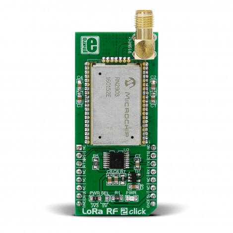 Mikroe Wireless Connectivity LoRa 2 Click front
