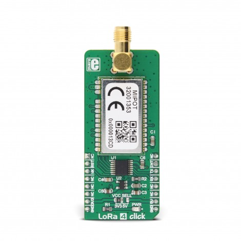 Mikroe Wireless Connectivity LoRa 4 click front