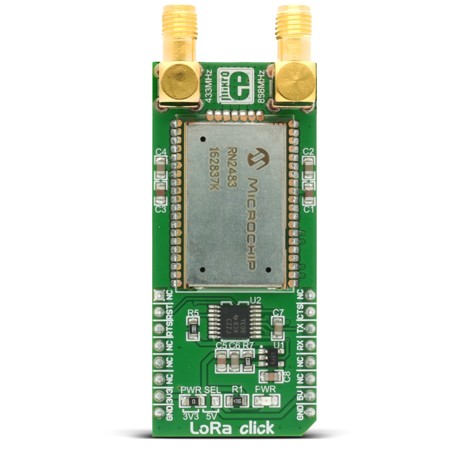 Lora Click Board With Microchips Rn2483 Sub Ghz 433 868 Mhz Raspberry Pi Serial Breakout Circuit Diagram For A Mgctlbxnmzp Mgctlbxv5112 Mgctlbxlc Mgctlbxpprestashop