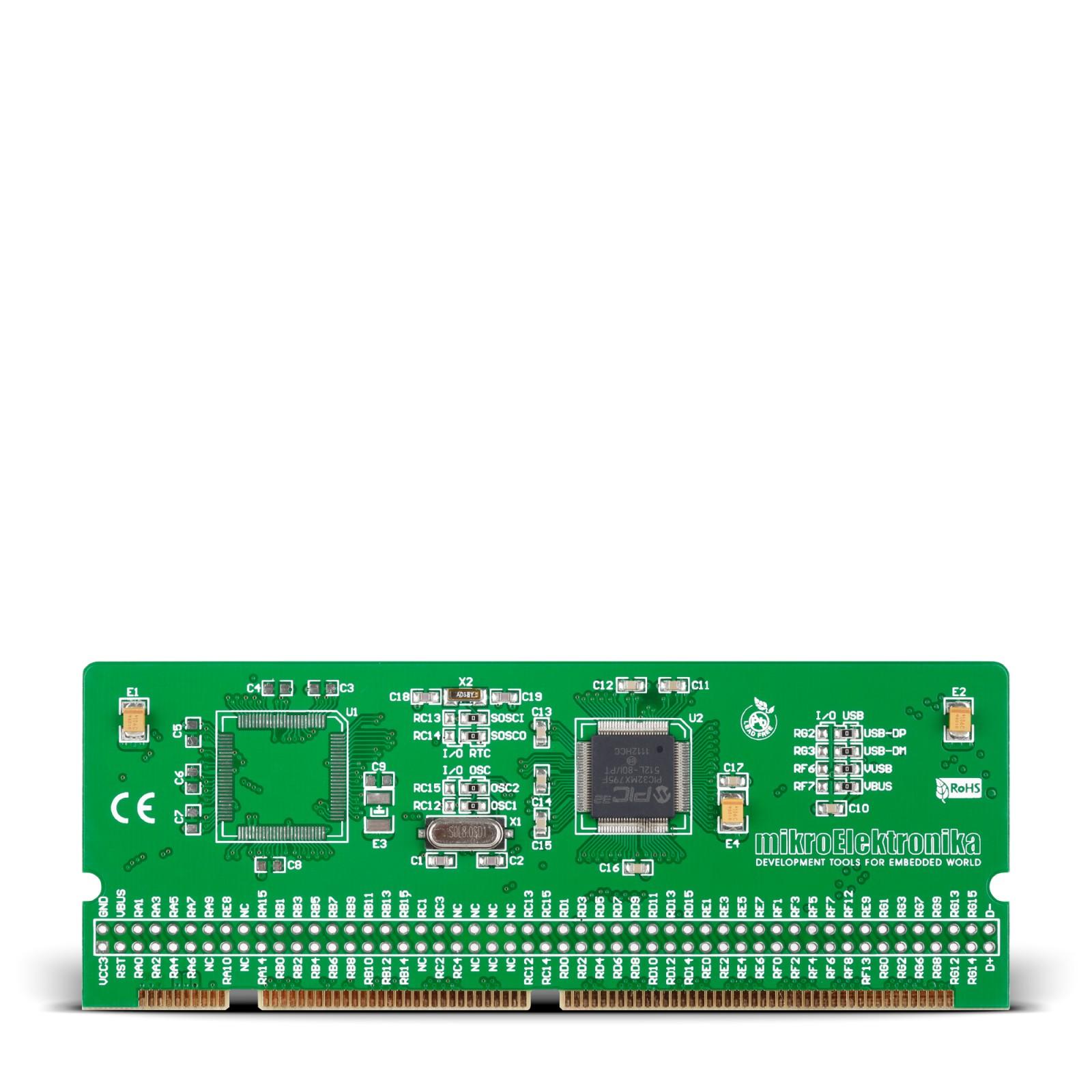 LV-32MX v6 100-pin TQFP MCU Card with PIC32MX795F512L