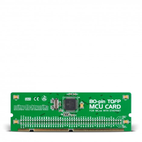 Mikroe LV18F v6 80-pin TQFP MCU Card with PIC18F87J60