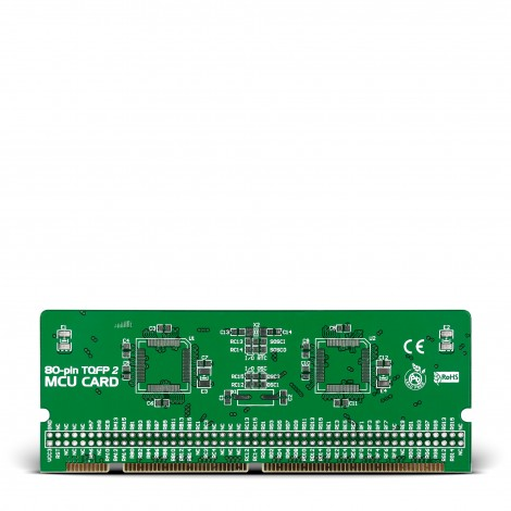 LV-24-33 v6 80-pin TQFP 2 MCU Card Empty PCB