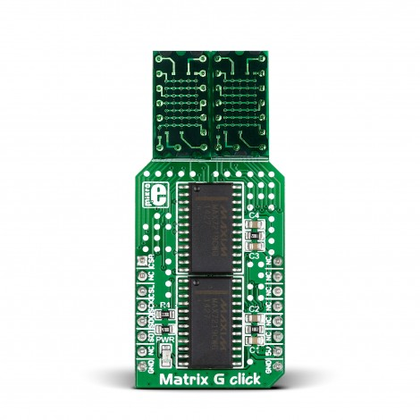 MikroE Click Boards Display Matrix G click front
