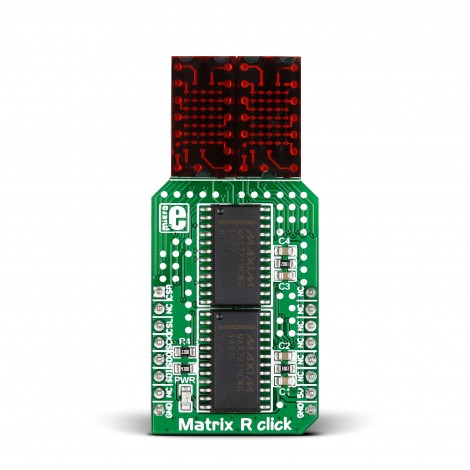 MikroE Click Boards Display Matrix R click front