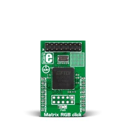 MikroE Click Boards Display Matrix RGB click front