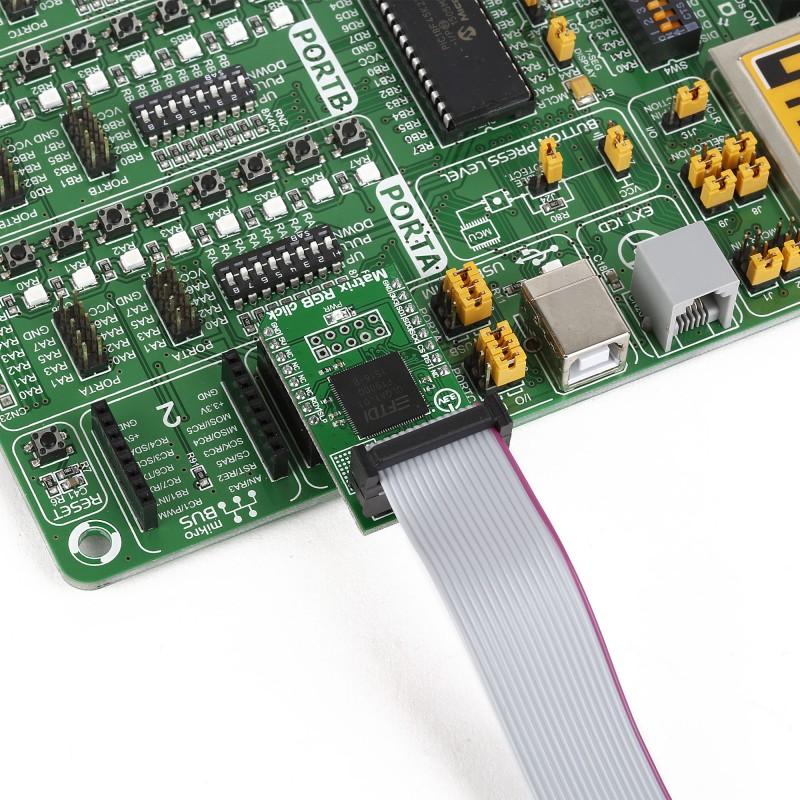 Matrix RGB click – 16x32 RGB LED matrix driver
