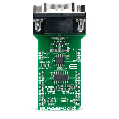 Click Boards Interface MCP2518FD click front
