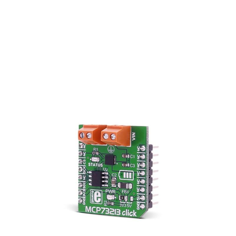 MCP73213 click — board with MCP73213 dual-cell Li-Ion/Li
