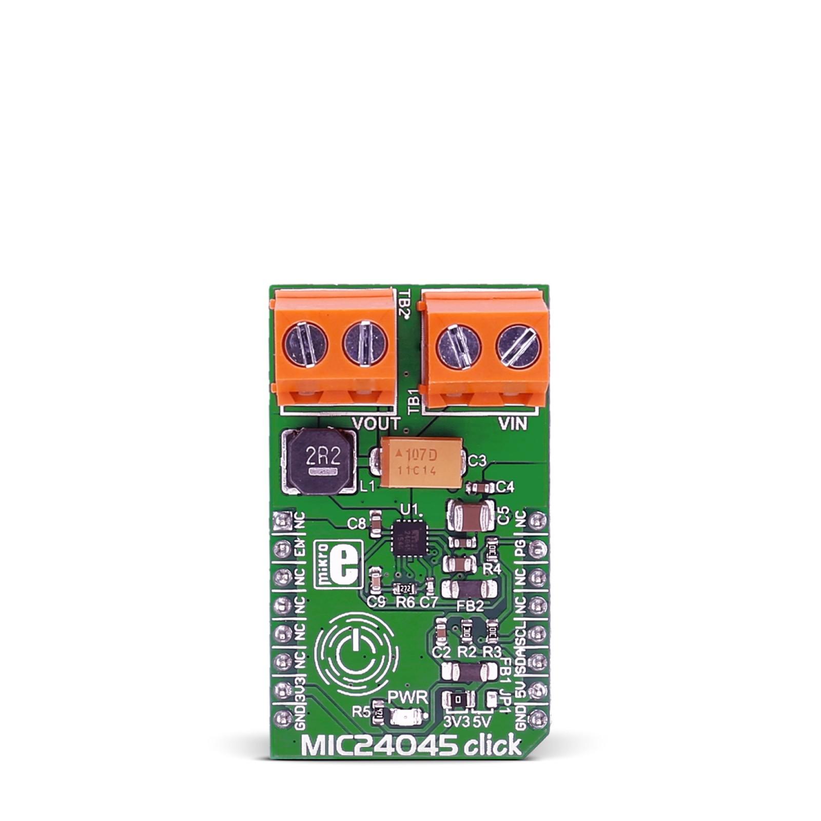 Mic24045 Click Board With Microchips Mikroelektronika Voltage Regulator Shutdown Digital Wiring Diagram Schematic Mgctlbxnmzp Mgctlbxv5112 Mgctlbxlc Mgctlbxpprestashop