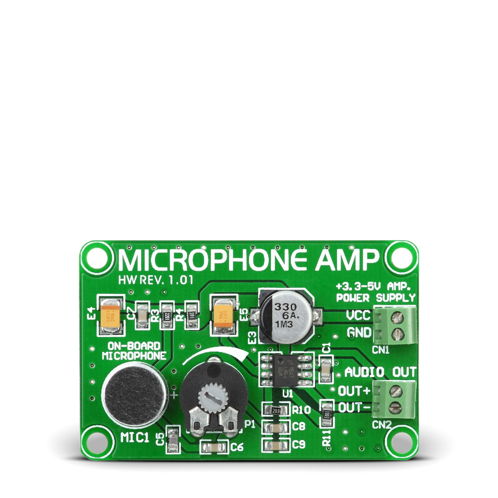 Microphone AMP - Board with LM4864 Microphone Preamplifier
