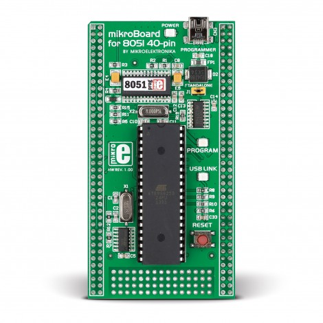 mikroBoard for 8051 40-pin with AT89S8253