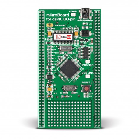 Mikroe mikroBoard for dsPIC with dsPIC30F6014A