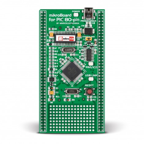 mikroBoard for PIC 80-pin with PIC18F8520
