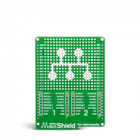MikroE mikroBUS Shield for mikromedia