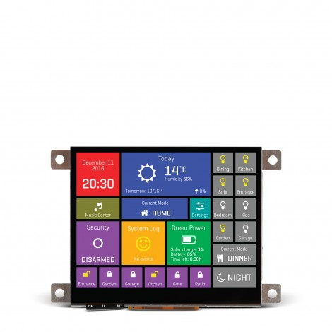 "Smart Displays mikromedia HMI 3.5"" Cap front"