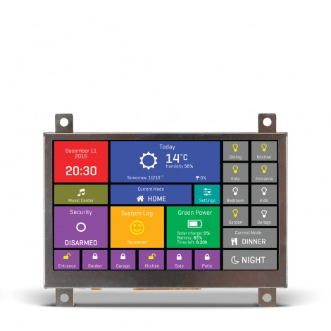 "Mikroe Smart Displays mikromedia HMI 4.3"" front"