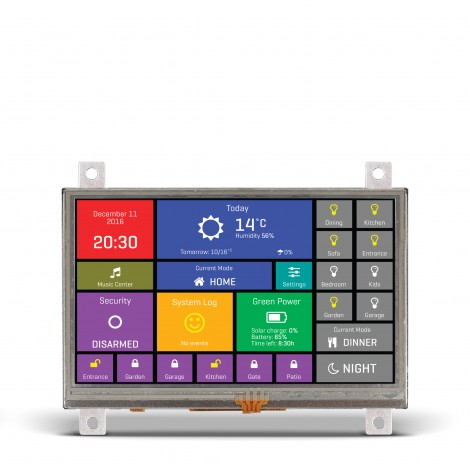 "Mikroe Smart Displays mikromedia HMI 4.3"" Res front"