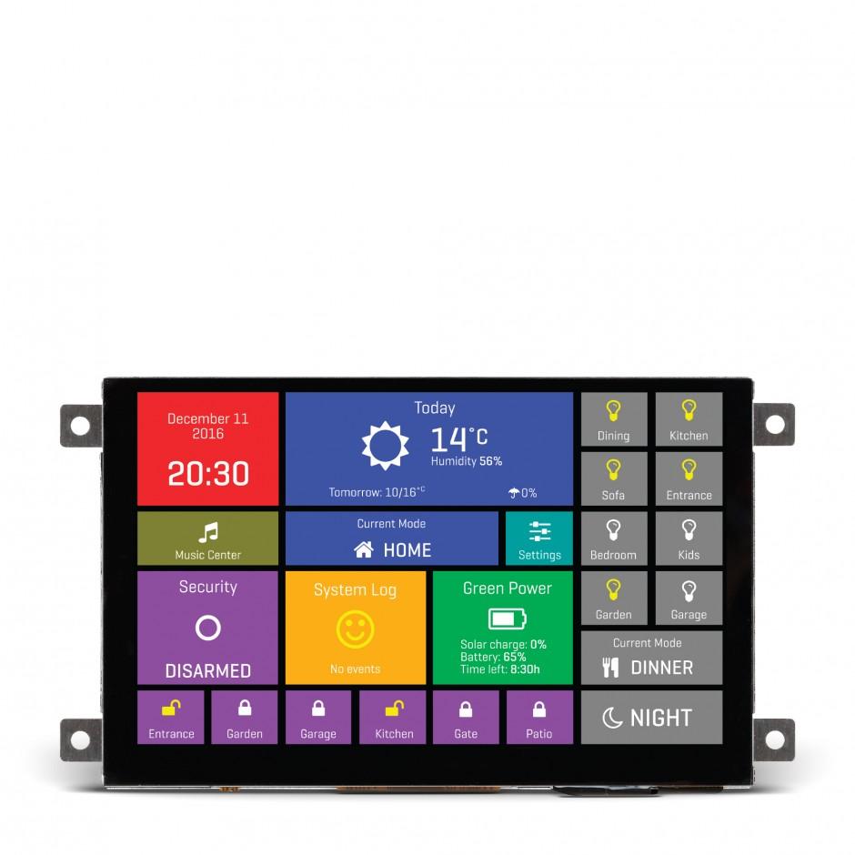 mikromedia hmi 5 cap smart display w capacitive touch 32 bit