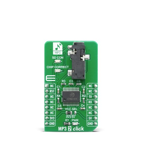 Shop Click Boards Audio & Voice MP3 MP3 2 Click Front