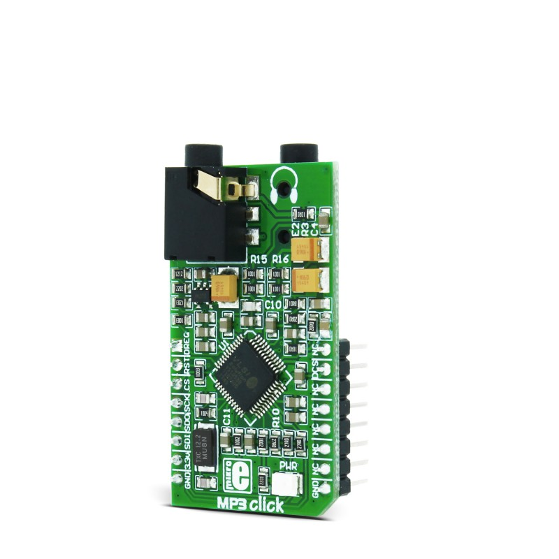 MP3 click - Breakout board for VS1053 Stereo MP3 codec