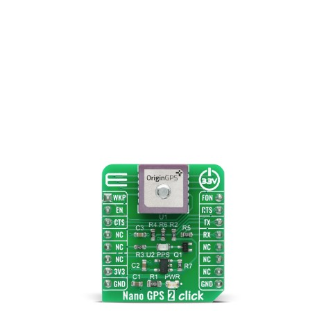 Shop Click Boards Wireless Connectivity GPS/GNSS Nano GPS 2 Click Front