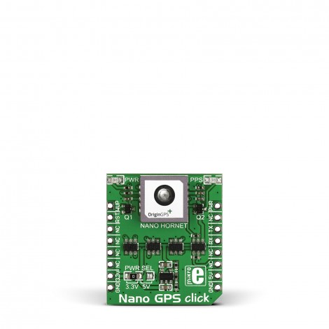 MikroE Wireless Connectivity NANO GPS click front