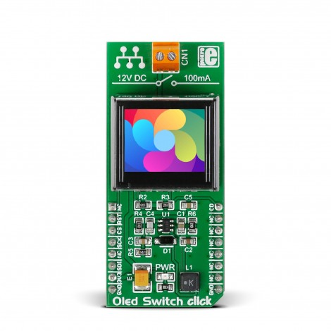 MikroElektronika Click Boards Display OLED Switch click front