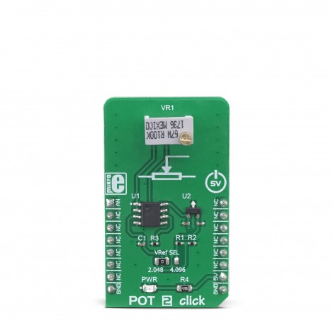 MikroE Click Boards Mixed-Signal POT 2 Click front