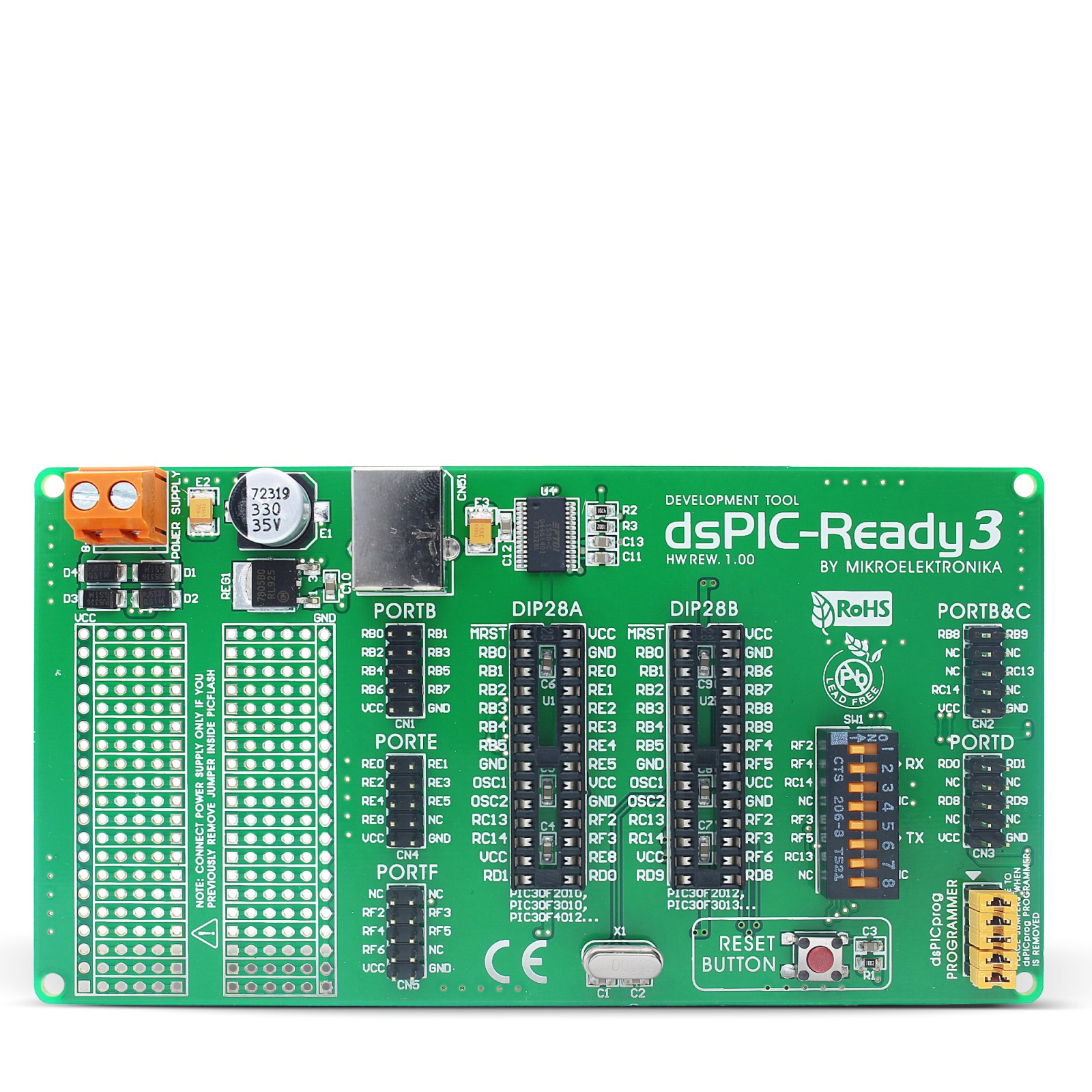 Dspic Ready3 Board 28 Pin Dspic30f2010 Dspic30f3010 Etc The Lr Series Circuit Electronics Mgctlbxnmzp Mgctlbxv5112 Mgctlbxlc Mgctlbxpprestashop