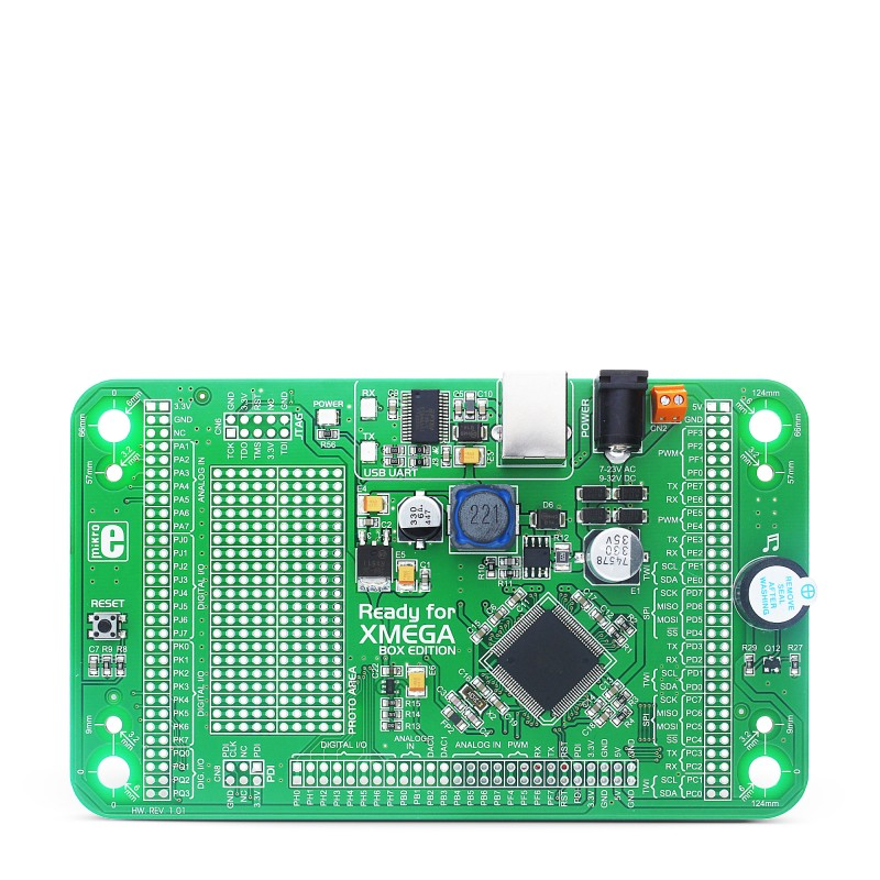 Mikroe Ready for XMEGA Board front