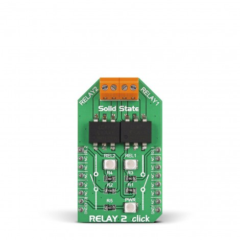 MikroE Miscellaneous Relay 2 click front